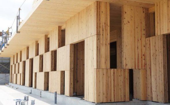 木製パネル耐震壁「CLT市松ブロック壁」の特許取得